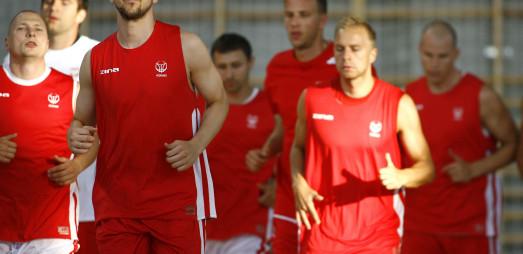 PZKosz. Trening reprezentacji koszykarzy w Legionowie. 23.07.2013